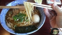 「正油ラーメン・大盛+味付玉子、水餃子」@麺坊の写真