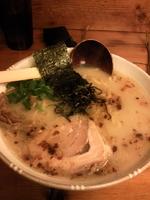 「鶏そば(太麺) 680円+大盛50円」@鶏そばや 竜神洞の写真