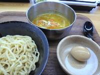 「カレーつけ麺(650円)+味玉(携帯クーポンで無料)」@岩槻 わっぜ 自家製麺の写真