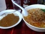 「ミニカレー+赤タン(辛々セット)」@二代目めん家 味味の写真