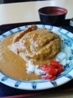 「カツカレー650円」@青海食堂の写真