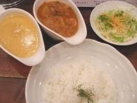 「エビ野菜&クリームチキン」@raffles curryの写真