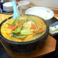 「石焼味噌ラーメン (ライス付き)」@桜華飯店の写真