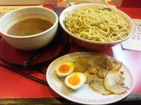 「江戸つけ麺特盛り(500g)1050円+おすすめトッピング(チャ」@麺処若松の写真