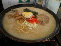 「九州らあめん太麺 大盛 ¥650」@らぁめん家 めん王の写真