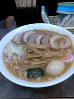 「中華そば+大盛+海老玉+豚のせ:1250円」@六厘舎 本店の写真
