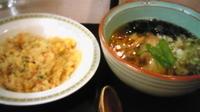 「醤油ラーメンとチャーハンのセット(1200円)」@小松空港レストラン カリヨンの写真