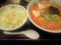「ピリ辛とんこつネギラーメン(大盛チケットサービス)」@日高屋 新宿三丁目店の写真