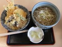 「天丼と温かいそばのセット」@手打ち蕎麦 鎌倉 梅の木 南太田店の写真