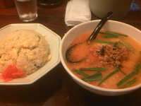 「坦々ラーメン+炒飯(600円)」@中国東北料理 八仙 五福支店の写真