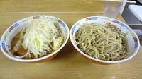 「ラーメン(650円)+つけ麺(150円)ニンニク」@ラーメン二郎 栃木街道店の写真