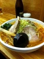 「ねぎ味噌+大盛+タレ辛口(50円)」@拉麺 樹の写真