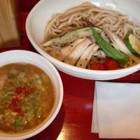 「海老香る つけ麺 + 炙り野菜」@つけ麵専門店 あかむぎの写真
