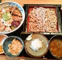 「地鶏丼セット(1300円)」@手打ち蕎麦・うどん・和食 玉川の写真