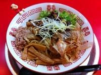 「汁なし牛麺」@ラーメン たんろん 本店の写真