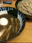 「一番搾り 味玉」@つけめん 三三㐂の写真