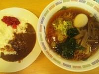 「ラーメン+ミニカレー500円」@めん処一ぷく 新座店の写真