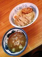 「つけ麺700円+メンマ(クーポン)」@香味屋の写真