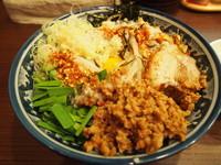 「キムチまぜそば+ライス(小)」@麺屋 GOO ~noodle house~の写真