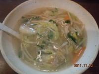 「野菜ちゃんぽん 750円」@麺 中中の写真