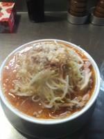 「・限定鬼辛し麺味噌」@ラーメン大 堀切店の写真