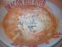 「紅いトマトチーズ坦坦麺 980円(クーポンで490円)」@DRAGON RED RIVER マリエとやま店の写真