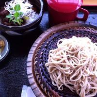 「たけやまセット(ざるそば+ミニ福島牛丼)」@手打ちそば お食事処 たけやまの写真