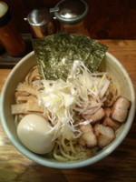 「特製煮干し汁なしそば(750円)」@らーめん 破顔の写真