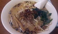 「ランチセット(味噌ラーメン+半チャーハン)750円」@らーめん飛鳥の写真