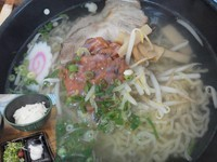 「イカ塩辛塩ラーメン¥600+ラードご飯(小)¥50(昼価格)」@菜麺の写真