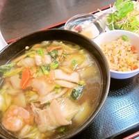 「広東麺ランチセット(650円)」@新新飯店の写真