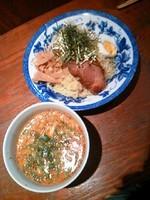 「特製つけ麺600円」@中華そば やる気MANMANの写真