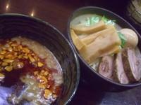 「辛つけ麺+極太メンマ+サービス味玉」@つけ麺 もといしの写真