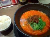 「汁有り担担麺+正式杏仁豆腐セット¥1000」@想吃担担面 名駅エスカ店の写真