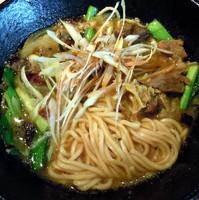 「特製牛スジ伽哩麺(ランチサービス麺大盛) 1000円」@麻布麺房どらいちの写真