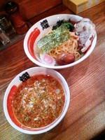 「伝説のつけ麺(大盛)750円+味玉(クーポン)」@ビストロde麺酒場 燿の写真