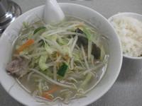 「タンメン(650円)小ライス(麺類とセットで100円)」@中華やの写真