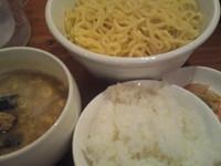 「C定食 (つけめん、ライス、キムチ) 780円」@麺道 ともよし 東三国店の写真