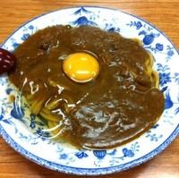 「しずちゃんのたまたまカレー皿うどん(¥500)」@力餅食堂 中崎店の写真
