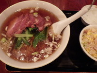「麺セット(チャーシューメン)」@上海菜館の写真