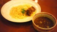 「カリーつけめん(800円)」@食・呑み処「花々亭」 ホテルルートイン美川インター内の写真