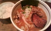 「中華そば+ごはんセット」@つけ麺 APPLE BASICの写真