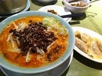 「白胡麻坦々麺+餃子(ランチセット)」@ちょもらんま酒場 恵比寿東口店の写真