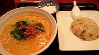 「坦々麺+半チャーハンセット872円」@福泰酒家 ファッションクルーズニューポート ひたちなか店の写真