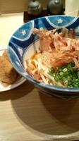 「朝食うどん(冷がけ・稲荷寿司付き)500円」@水山 ecute品川サウス店の写真