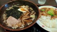 「ラーメンセット(小中華丼)700円」@シュンマオの写真