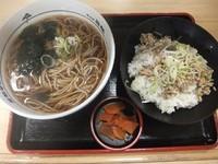 「鯵丼セット500円」@名代 箱根そば 小田原店の写真
