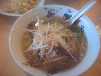 「セット(砂肝ラーメン+高菜炒飯) 750円」@台湾料理 全家福 今泉店の写真