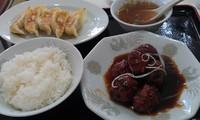 「日替わりランチ餃子付き=500円」@ぎょうざのぽん吉の写真