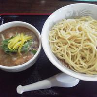 「冷やおろし魚介トンコツつけ麺(小)¥780」@つけ麺 劉備 阿見店の写真